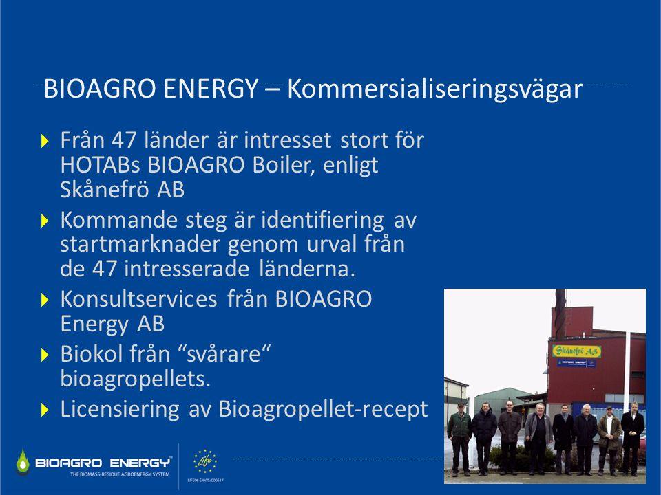 BIOAGRO ENERGY – Kommersialiseringsvägar