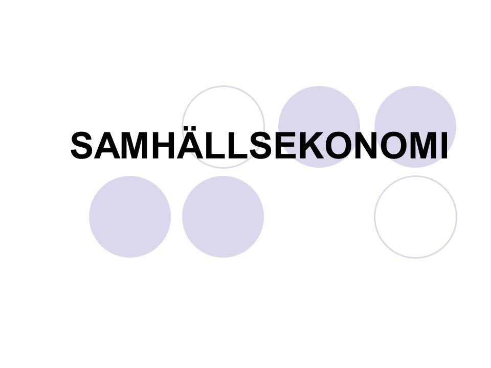 SAMHÄLLSEKONOMI