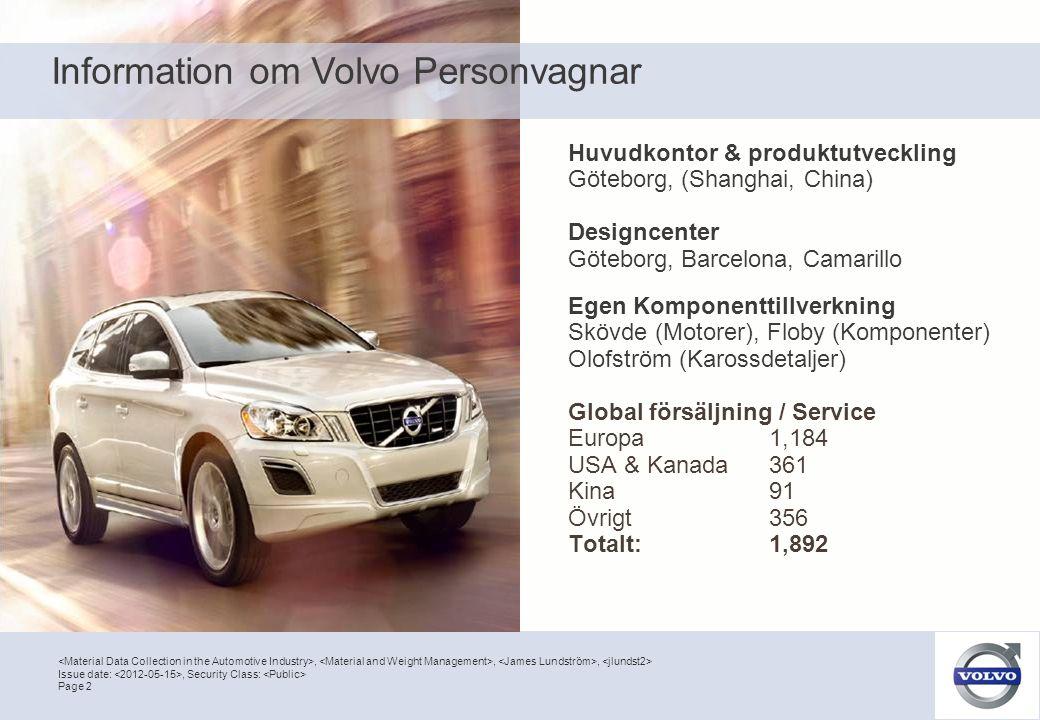 Information om Volvo Personvagnar