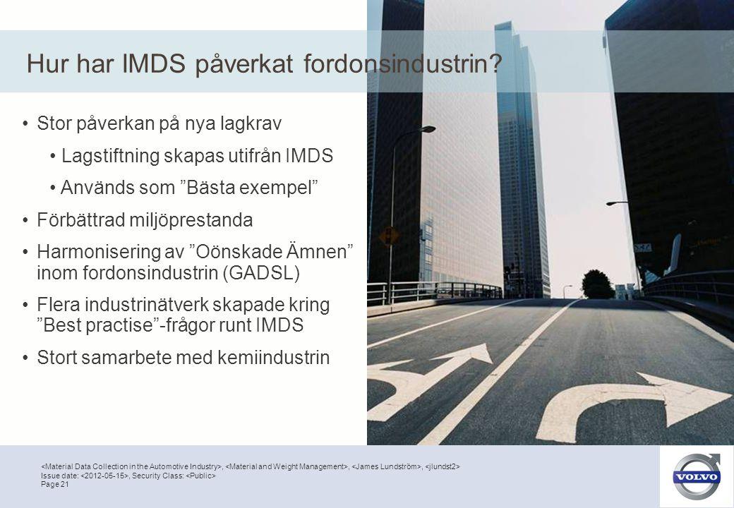Hur har IMDS påverkat fordonsindustrin