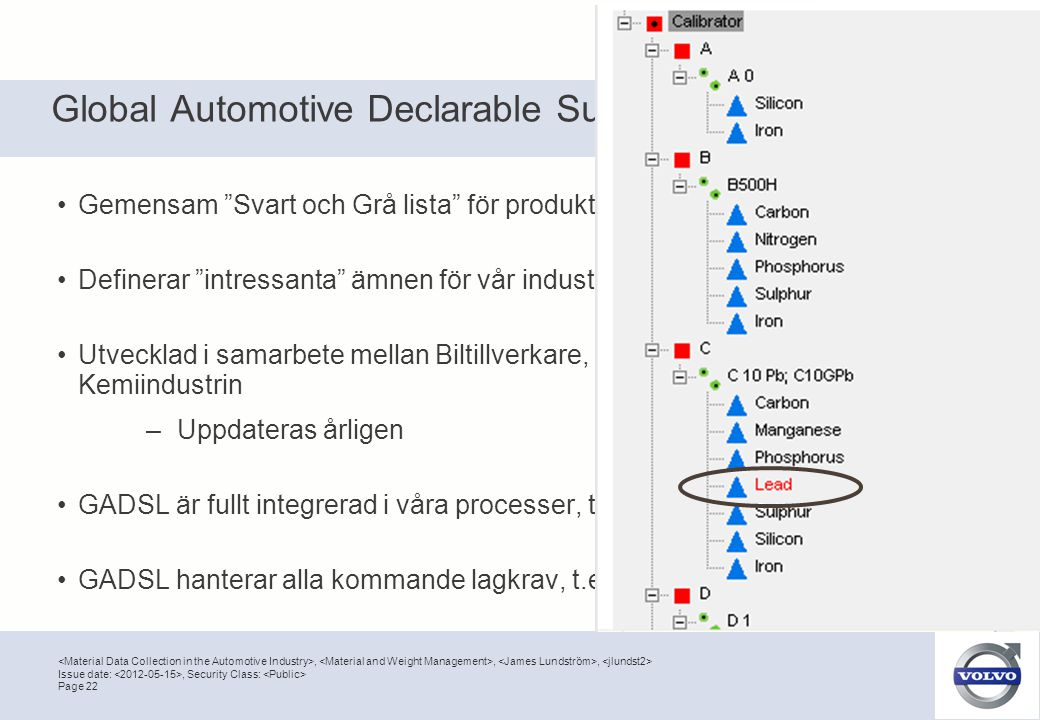 Global Automotive Declarable Substance List (GADSL)
