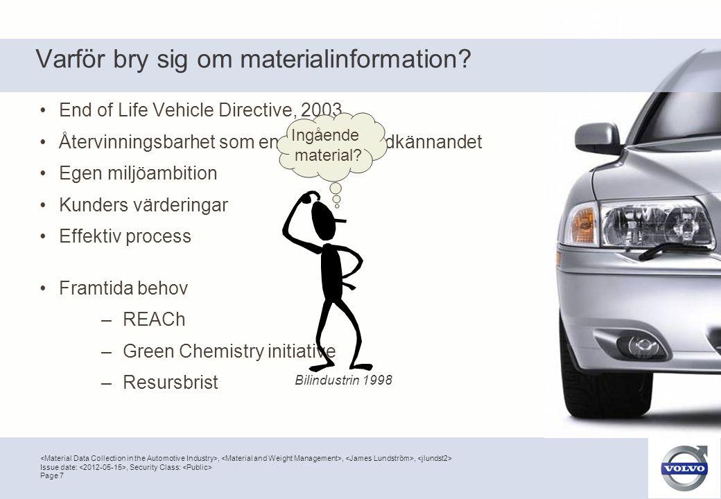 Varför bry sig om materialinformation