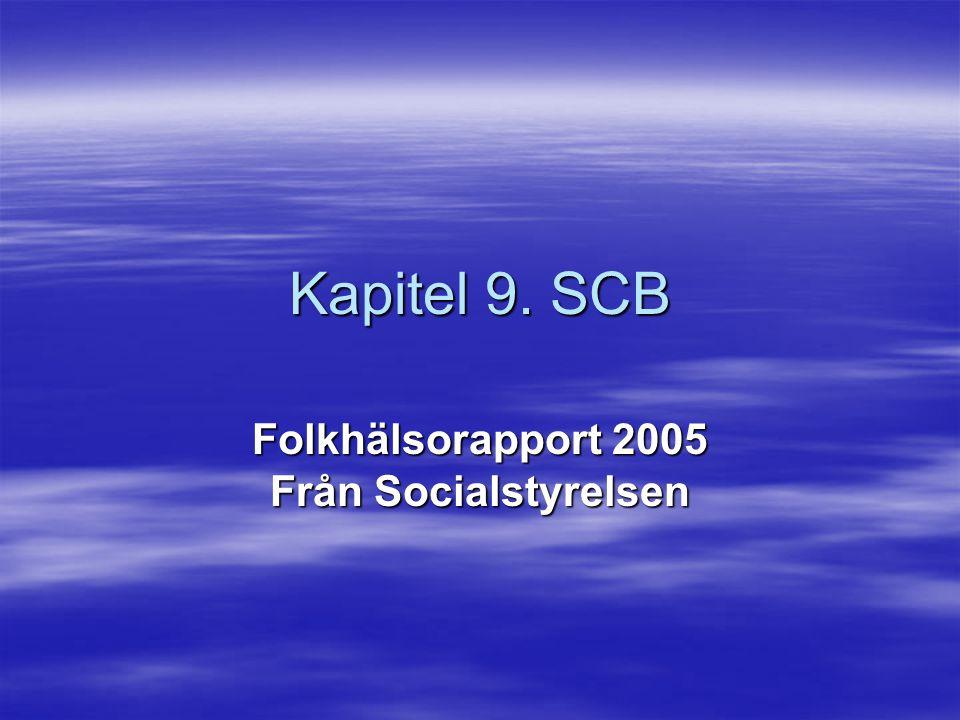 Folkhälsorapport 2005 Från Socialstyrelsen