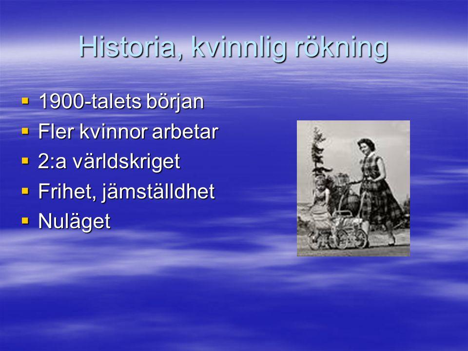 Historia, kvinnlig rökning