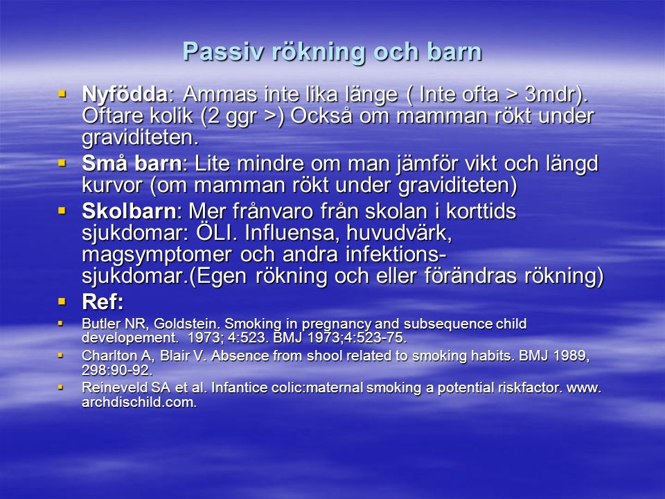 Passiv rökning och barn