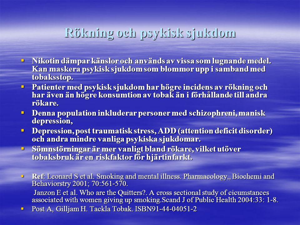 Rökning och psykisk sjukdom