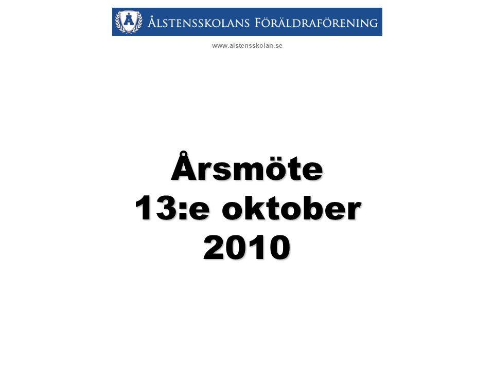 www.alstensskolan.se Årsmöte 13:e oktober 2010