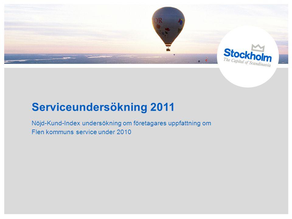 Serviceundersökning 2011 Nöjd-Kund-Index undersökning om företagares uppfattning om Flen kommuns service under 2010.