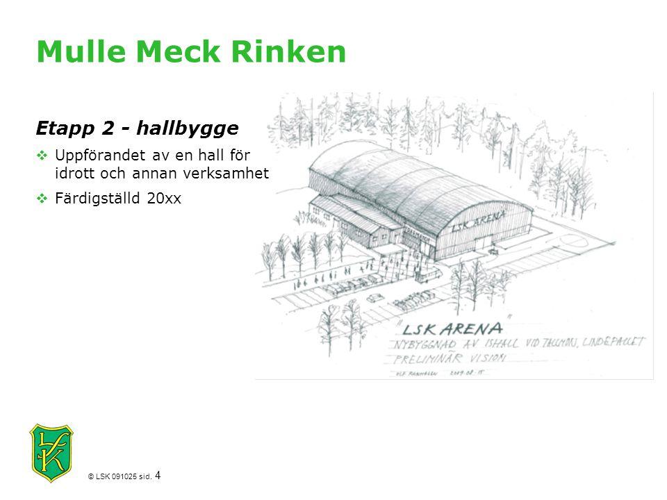 Mulle Meck Rinken Etapp 2 - hallbygge