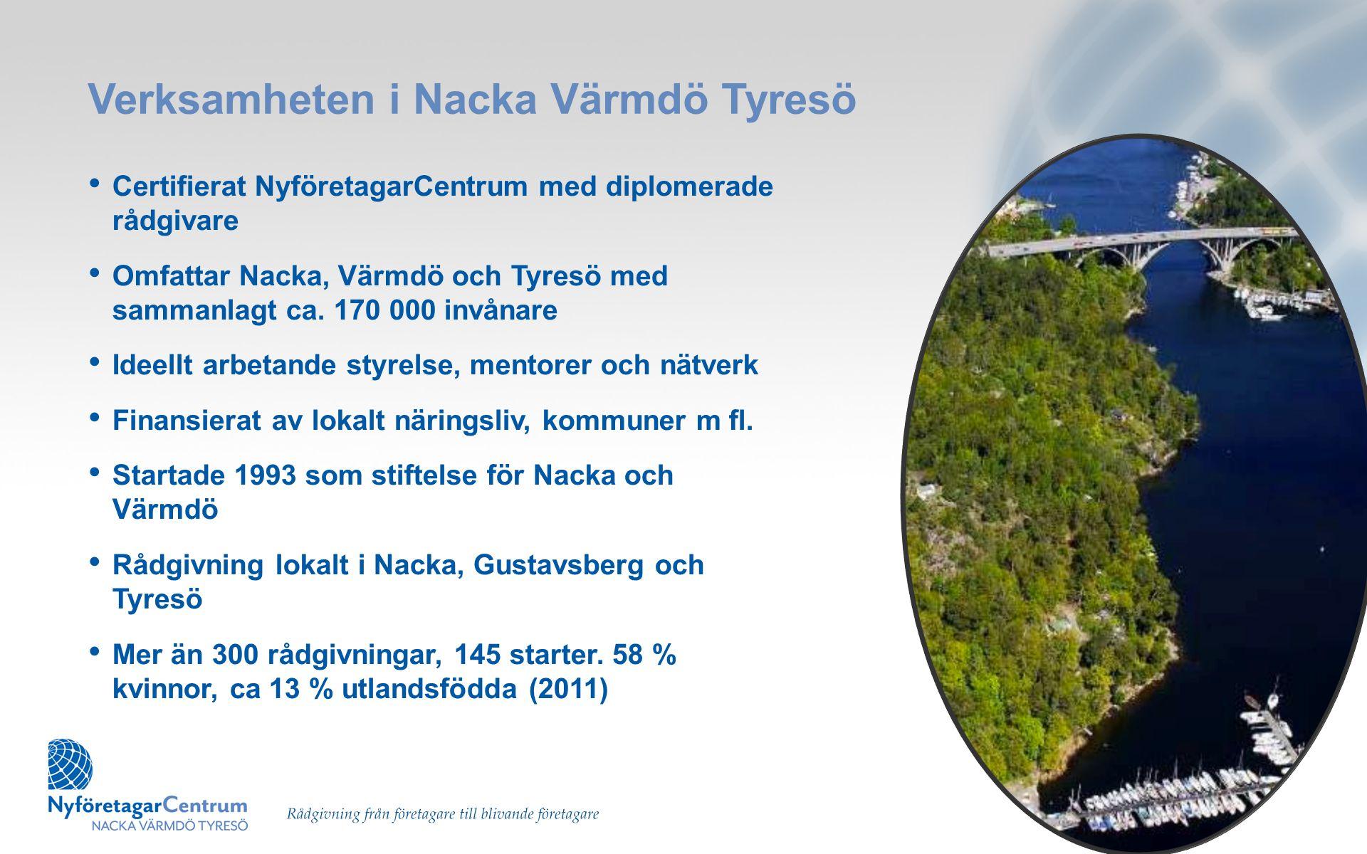 Verksamheten i Nacka Värmdö Tyresö