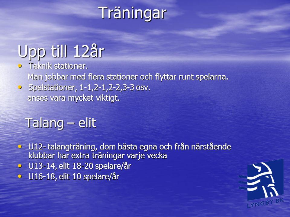 Träningar Upp till 12år Teknik stationer.