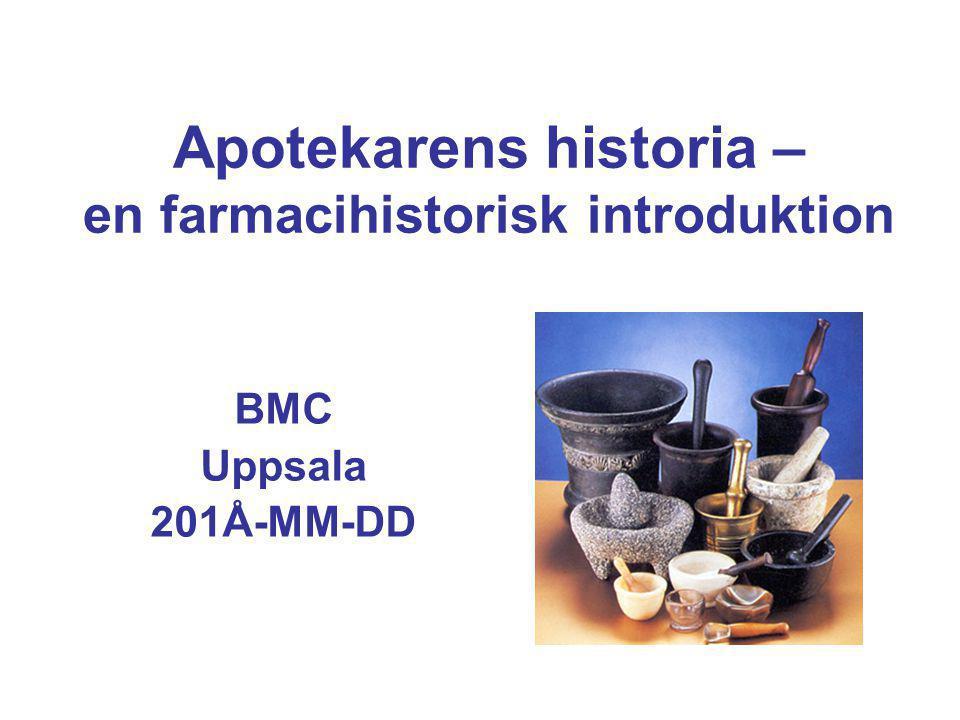 Apotekarens historia – en farmacihistorisk introduktion