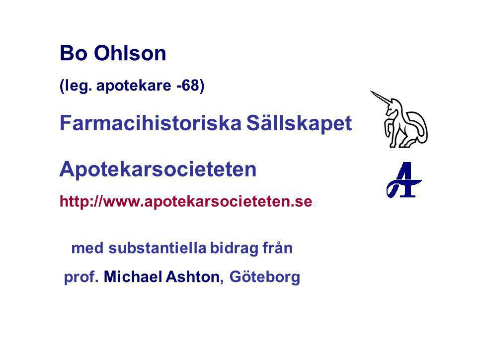 med substantiella bidrag från prof. Michael Ashton, Göteborg