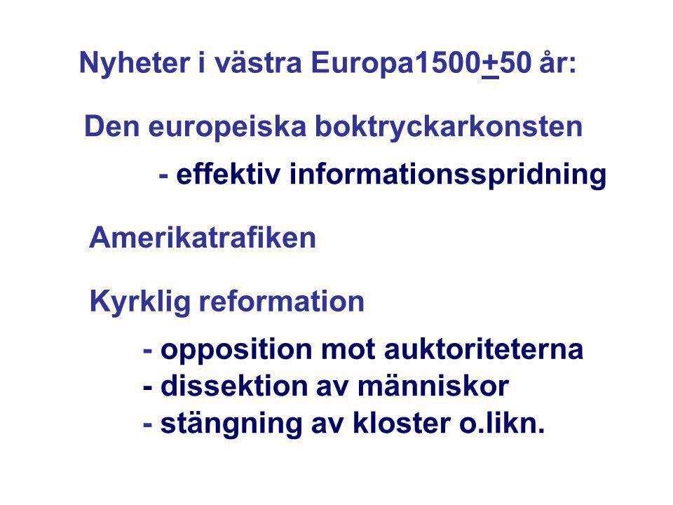 Nyheter i västra Europa1500+50 år: