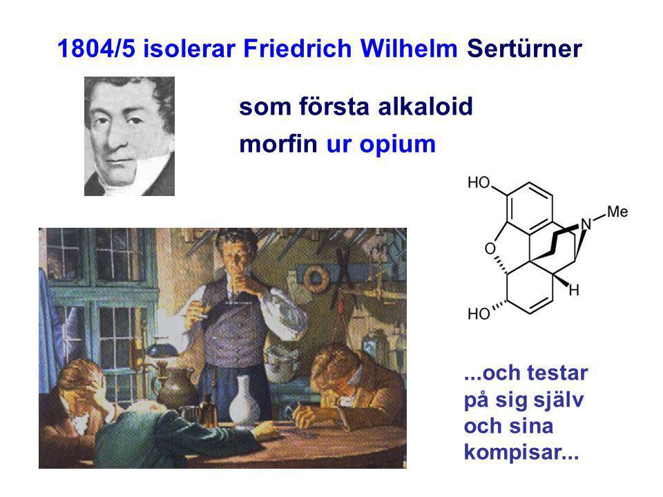 1804/5 isolerar Friedrich Wilhelm Sertürner