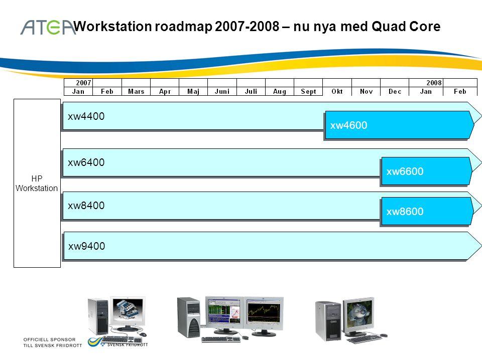 Workstation roadmap 2007-2008 – nu nya med Quad Core