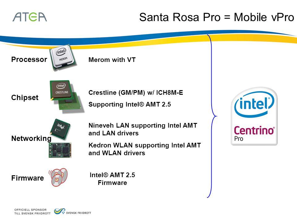 Santa Rosa Pro = Mobile vPro