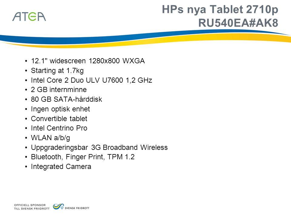 HPs nya Tablet 2710p RU540EA#AK8