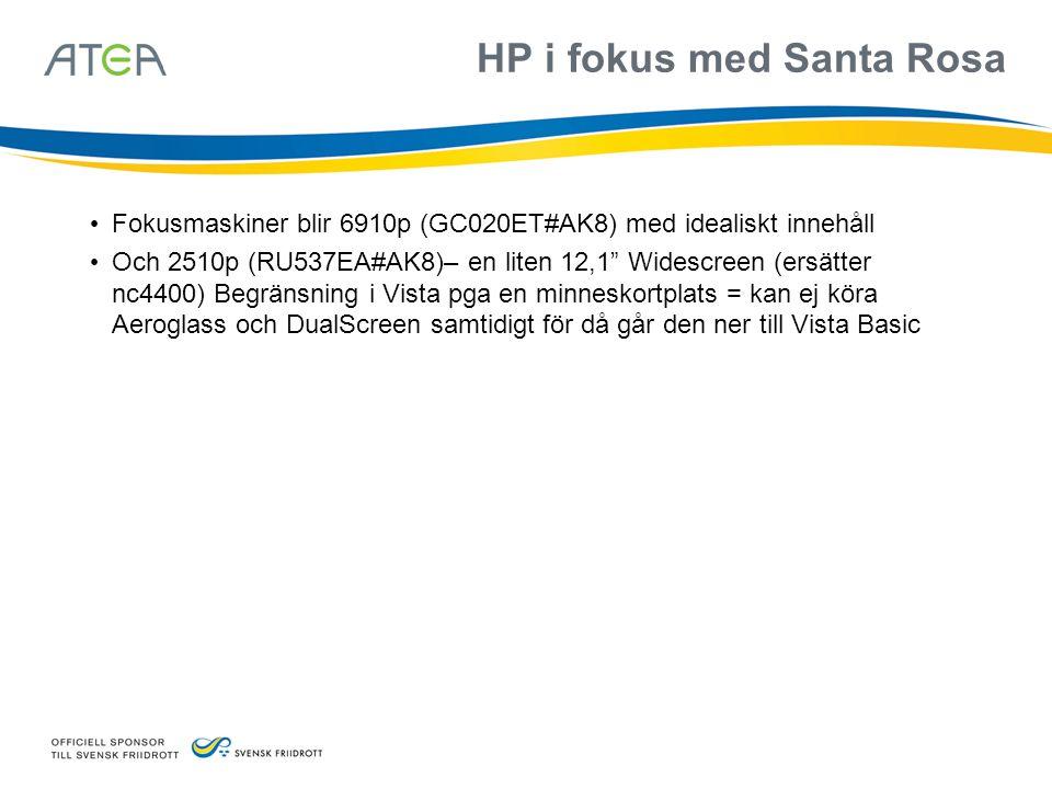 HP i fokus med Santa Rosa