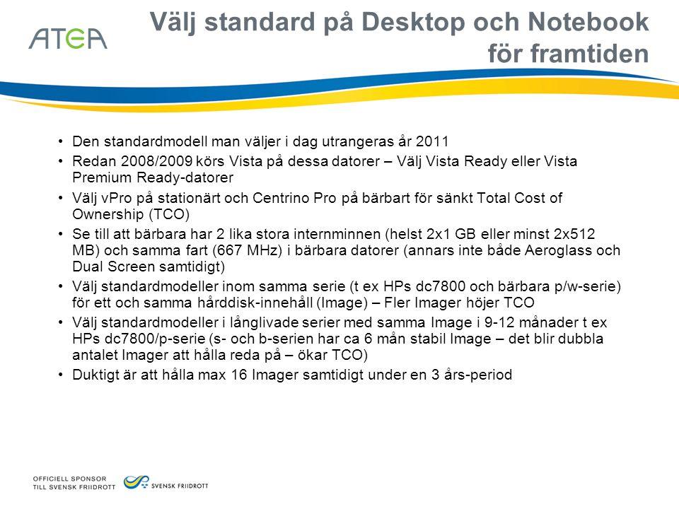 Välj standard på Desktop och Notebook för framtiden