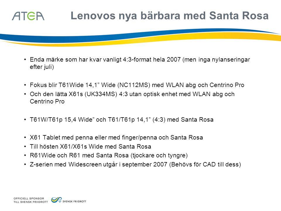 Lenovos nya bärbara med Santa Rosa
