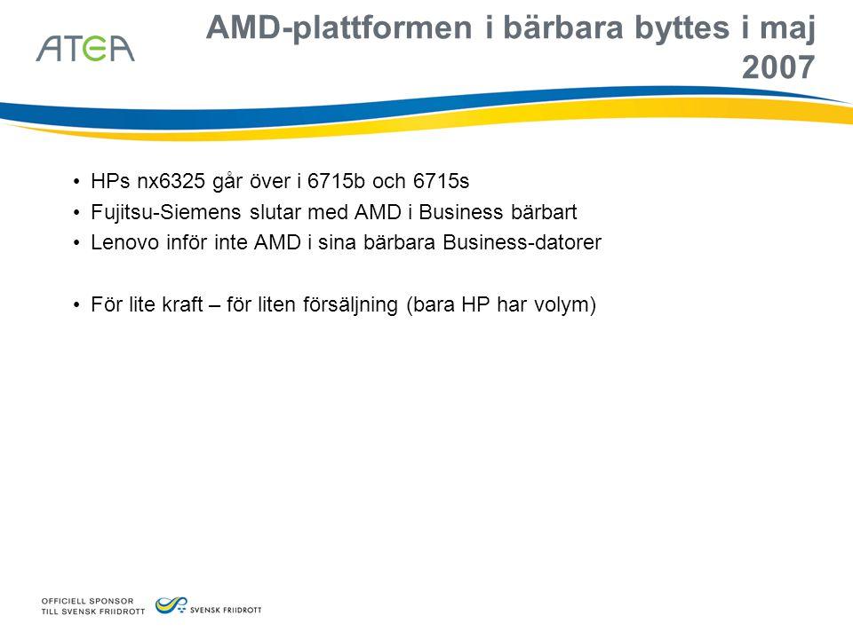 AMD-plattformen i bärbara byttes i maj 2007