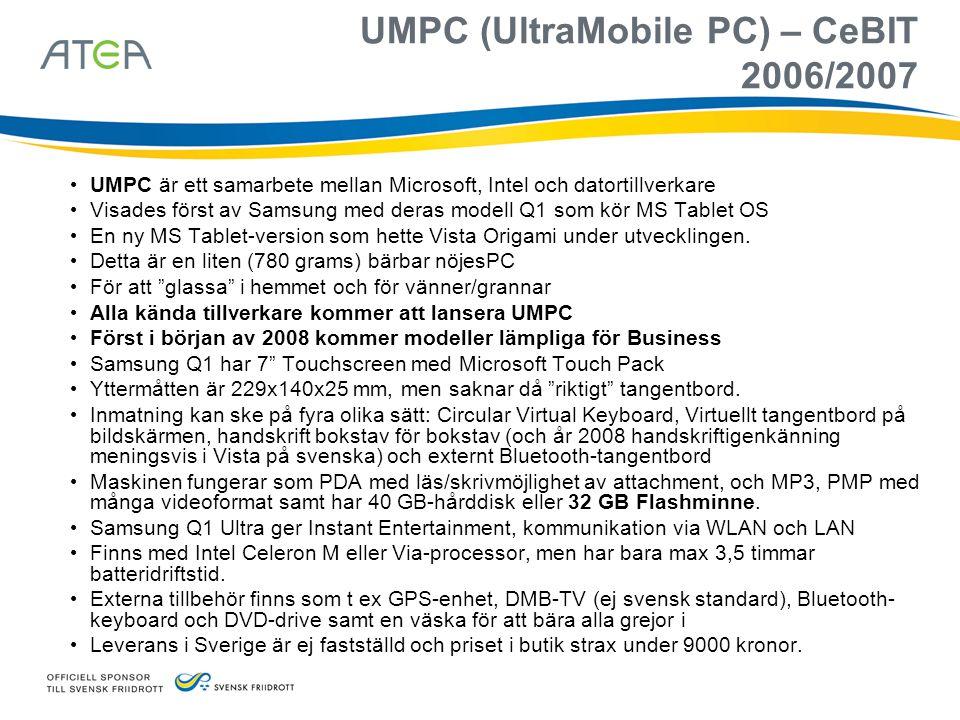 UMPC (UltraMobile PC) – CeBIT 2006/2007