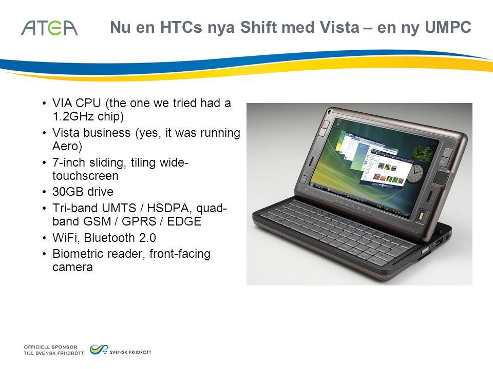 Nu en HTCs nya Shift med Vista – en ny UMPC