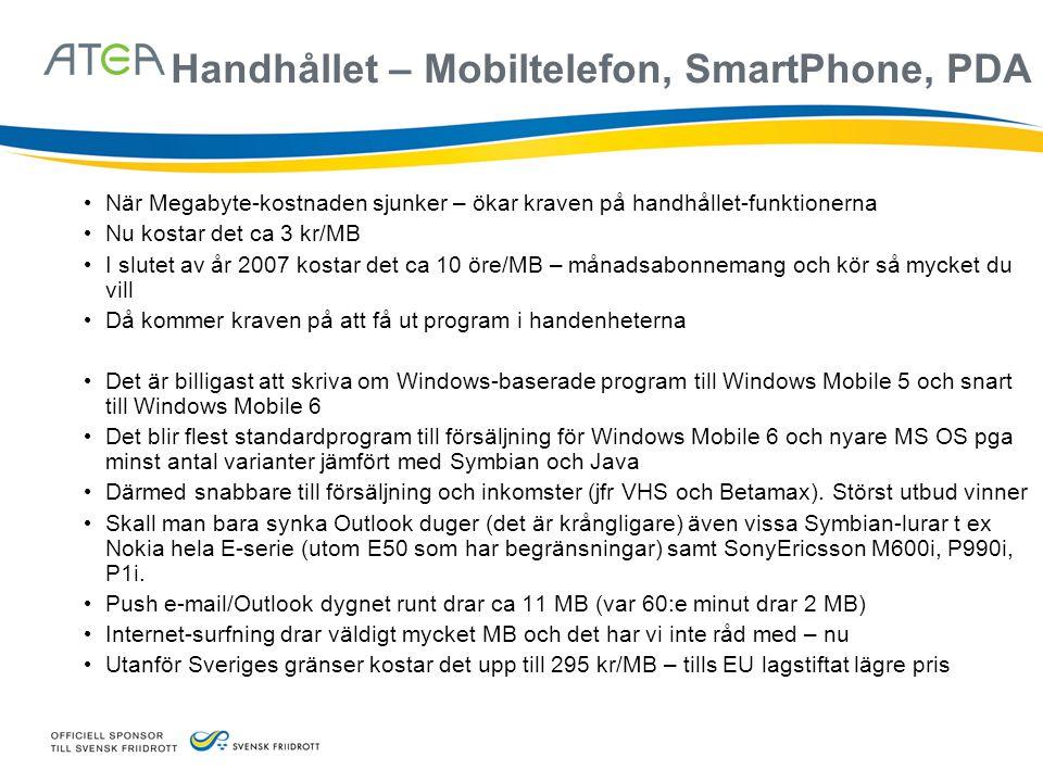 Handhållet – Mobiltelefon, SmartPhone, PDA