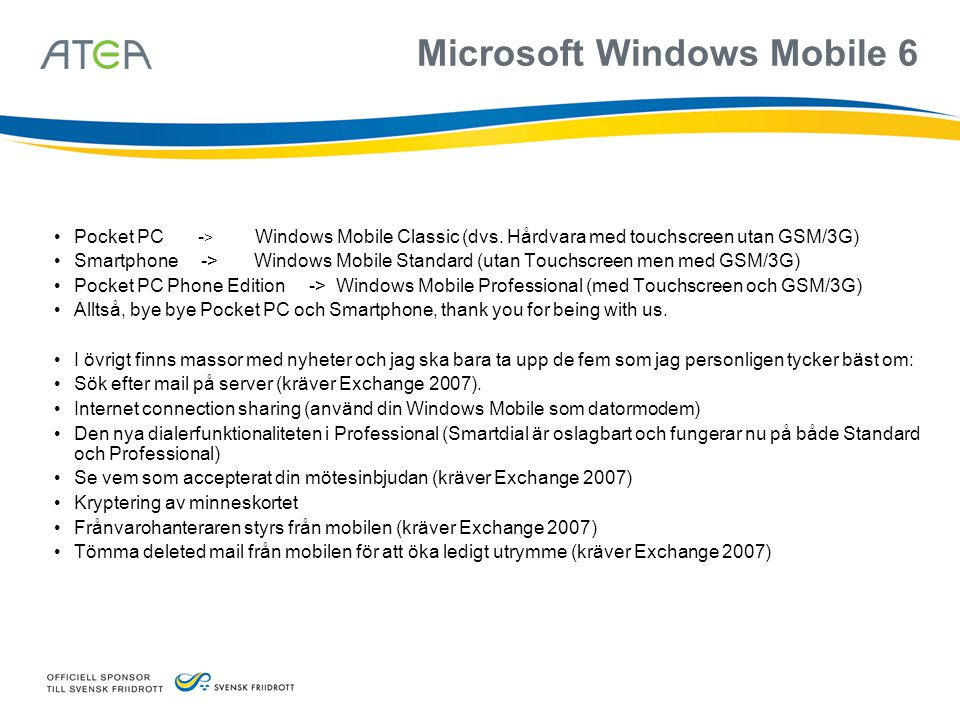 Microsoft Windows Mobile 6