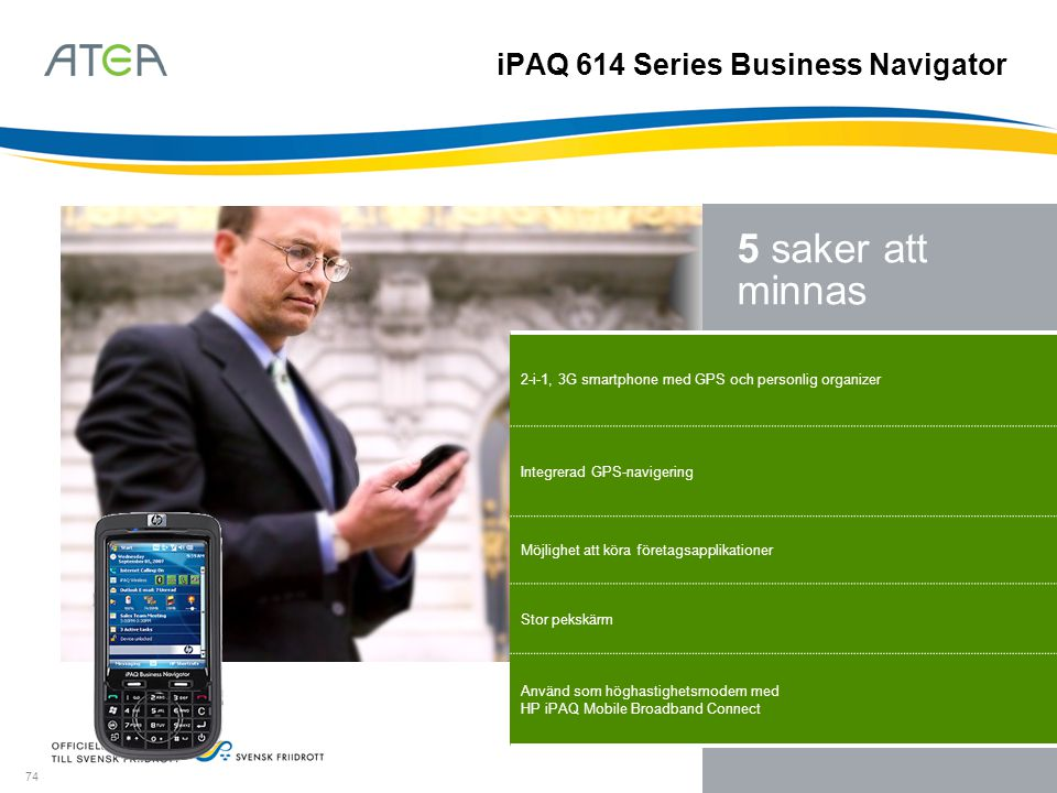 iPAQ 614 Series Business Navigator
