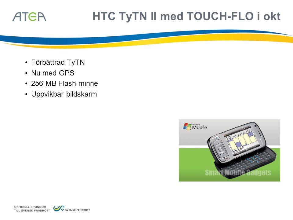 HTC TyTN II med TOUCH-FLO i okt