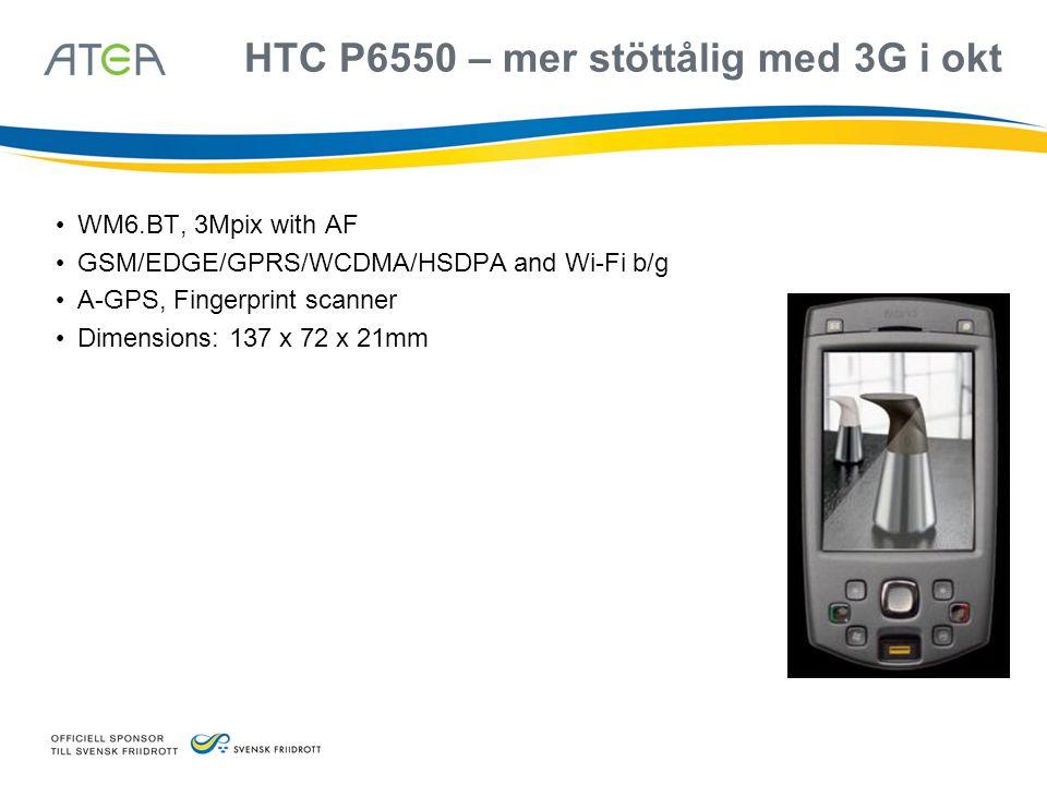 HTC P6550 – mer stöttålig med 3G i okt