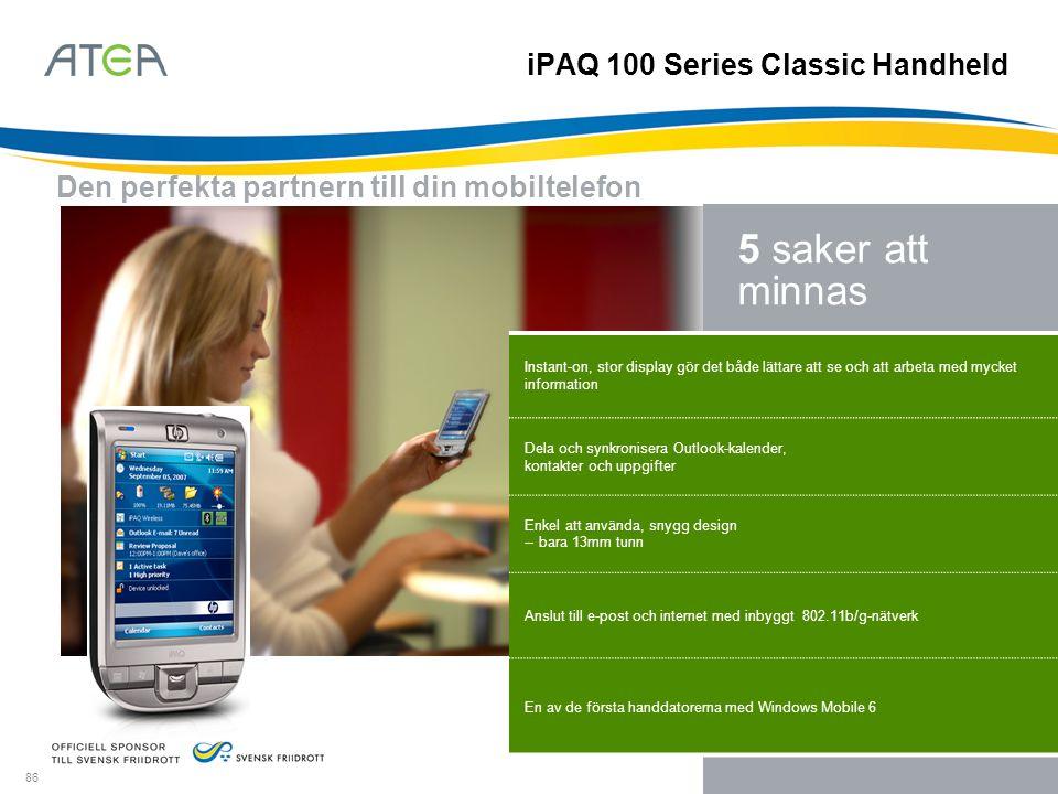 iPAQ 100 Series Classic Handheld