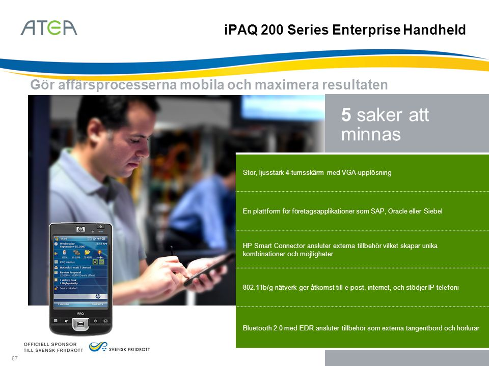 iPAQ 200 Series Enterprise Handheld