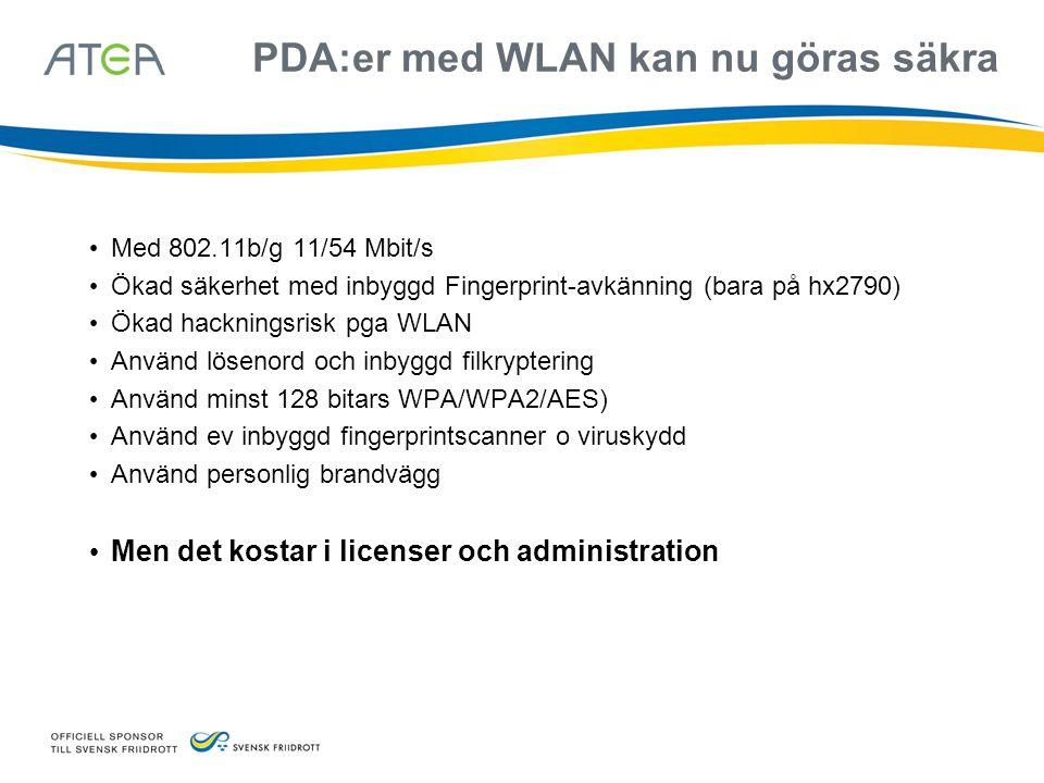 PDA:er med WLAN kan nu göras säkra