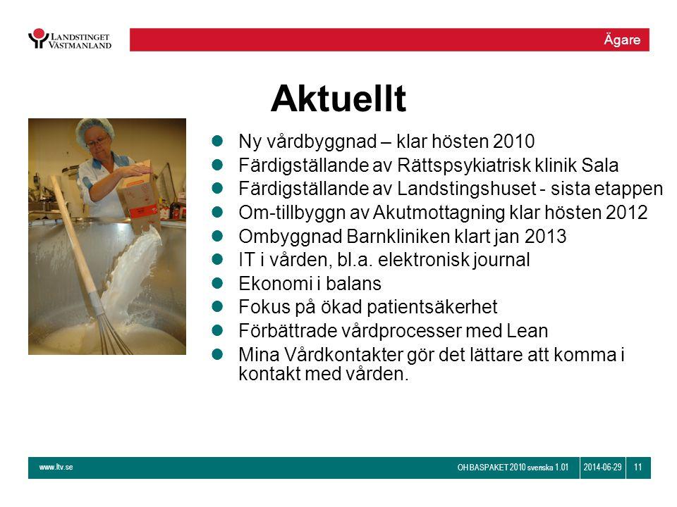 Aktuellt Ny vårdbyggnad – klar hösten 2010