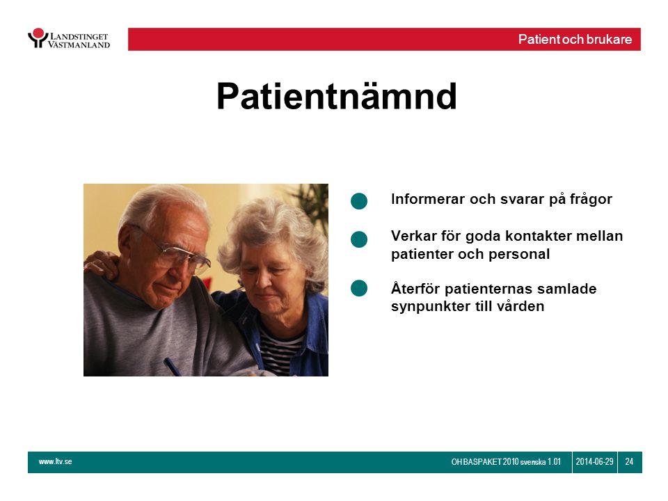 Patientnämnd Informerar och svarar på frågor
