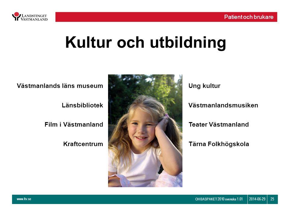Kultur och utbildning Västmanlands läns museum Länsbibliotek