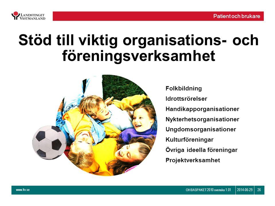 Stöd till viktig organisations- och föreningsverksamhet