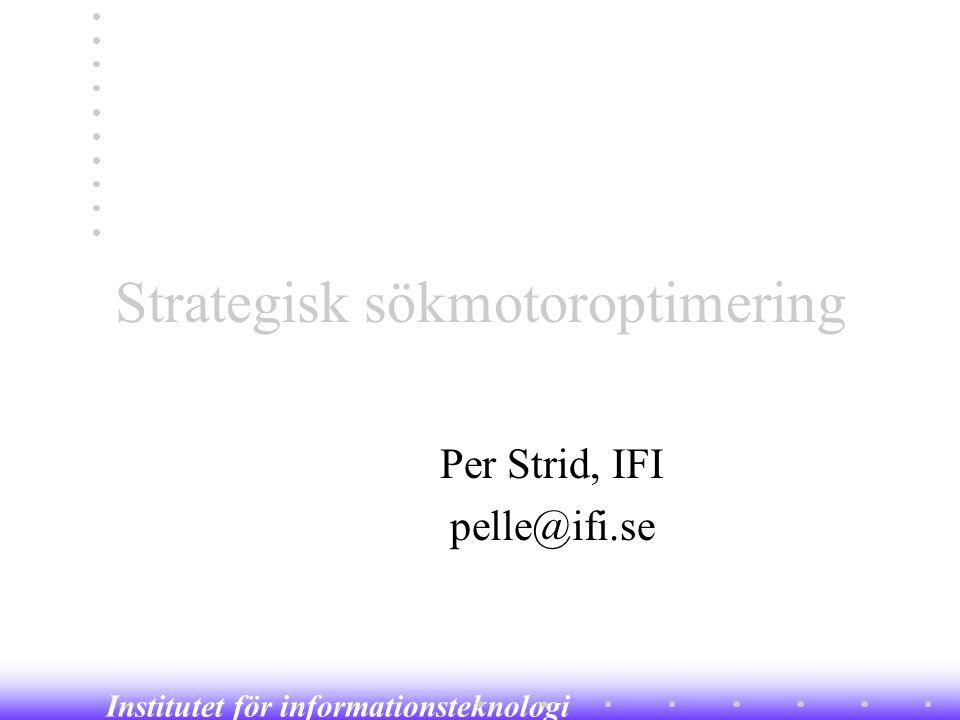 Strategisk sökmotoroptimering