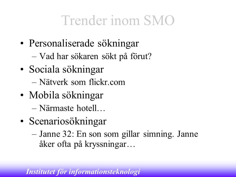 Trender inom SMO Personaliserade sökningar Sociala sökningar