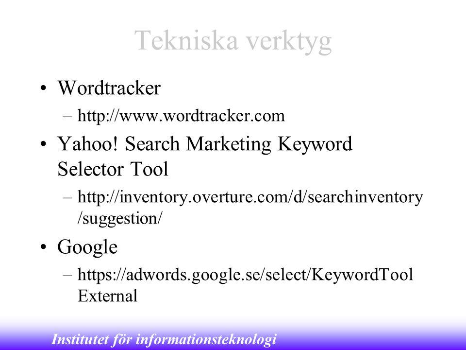 Tekniska verktyg Wordtracker