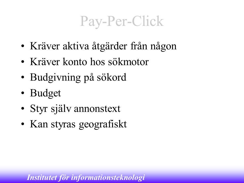 Pay-Per-Click Kräver aktiva åtgärder från någon