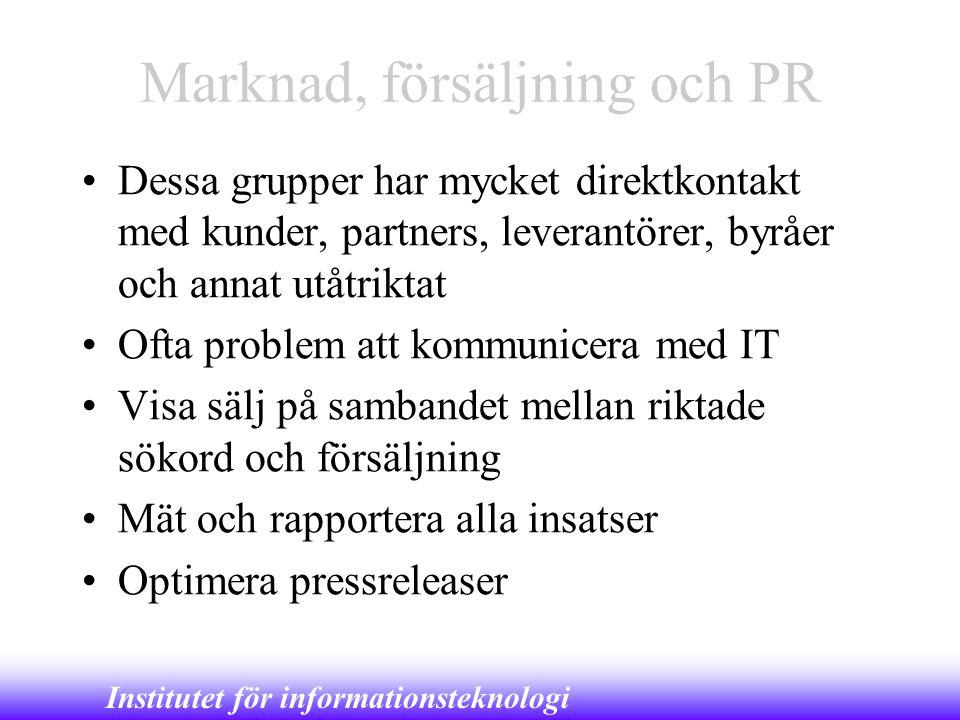 Marknad, försäljning och PR