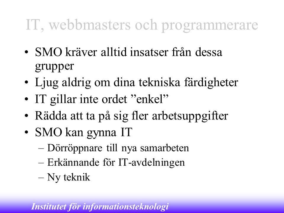 IT, webbmasters och programmerare