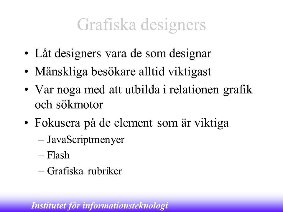 Grafiska designers Låt designers vara de som designar
