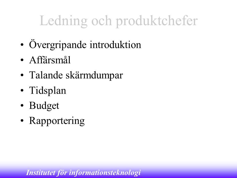 Ledning och produktchefer