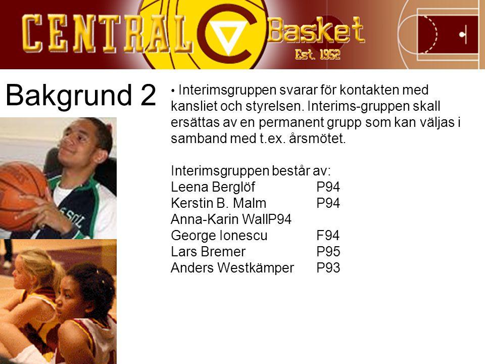 Bakgrund 2 Interimsgruppen består av: Leena Berglöf P94
