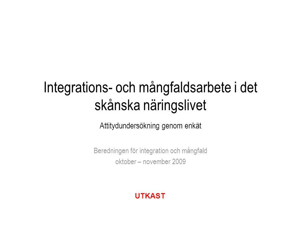 Beredningen för integration och mångfald oktober – november 2009